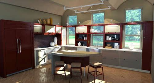 Interior renderings tim doonan 3d artist Kitchen design software google sketchup